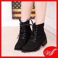 Giày boot cổ cao đế cao su G-169.1