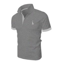 [TEDDY SHOP] Áo thun POLO nam logo hươu cao cổ mới HU-04