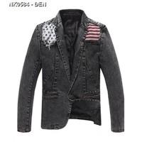 Áo khoác jeans giả vest cá tính Mã: NK0584 - ĐEN