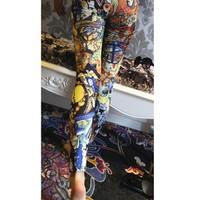 Quần legging nữ hoa văn Mã: QB352 - 2