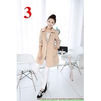 Áo khoác dạ cổ sen hai túi dễ thương màu sắc trẻ trung AKNU221