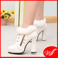 Giày boot cổ lông cao cấp G-223.3
