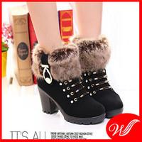 Giày boot cổ lông cao cấp G-224.1