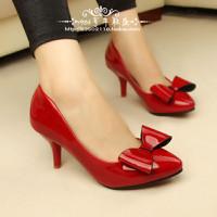 Giày Cao Gót 5 Phân phối Nơ Xinh sắc đỏ quyến rũ