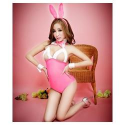 C055 Cosplay thỏ hồng hở ngực khiêu gợi nóng bỏng