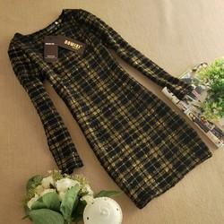 Đầm bút chì dài tay phong cách Hàn Quốc