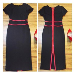 ĐẦM HOTGILR - Đầm body với thiết kế viền màu sang trọng khi đi tiệc