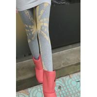 Quần legging nữ dáng dài phối màu sơn loang mới lạ, cá tính-Q341