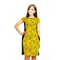 Đầm suông hoạ tiết hoa vàng  ĐSHOATIETVANG-289