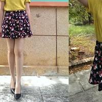 Chân váy xòe hoa hồng