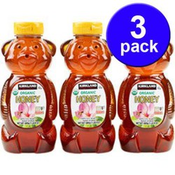 Combo 3 Chai Mật Ong Kirkland Honey Bear 680gr