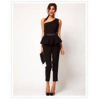 Jumpsuit quần dài màu đen