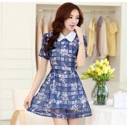 Đầm xòe họa tiết xinh yêu, dịu dàng - Mã MM80146