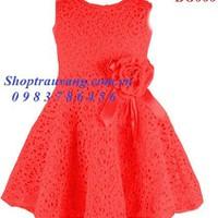 BG666 - Đầm ren đỏ