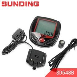 Đồng hồ xe đạp SD548B hiển thị tiếng anh