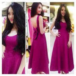 Đầm dài hở lưng nơ Linh Chi D605