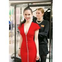 Đầm đỏ sexy Ngọc Trinh 839