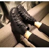 Giày boot da nhúng