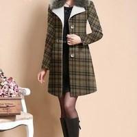 Áo khoác dạ nữ form dài Hàn quốc , hàng cao cấp mới về AKNU273s