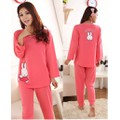 Bộ đồ mặc nhà nữ dáng dài, họa tiết thỏ dễ thương-BN048