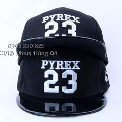 Mũ nón hip hop snapback phối da Pyrex 23 hàng nhập cung cấp sĩ lẻ