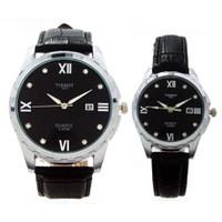 Đồng hồ đôi dây da TISSOT T3-4170FM chống nước