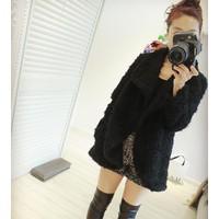 Áo khoác nữ lông cá tính Mã: AO2024 - ĐEN