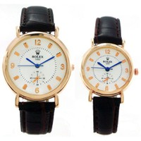 Đồng hồ đôi Rolex 3 kim rưỡi dây da 1202.484M