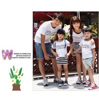 Đồng phục gia đình có đầm áo thun in GREEN mẹ và bé