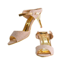 Giày Doly 8 phân ánh kim vàng, 2 mẫu nữ tính sang trọng.