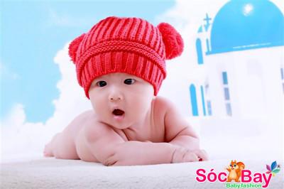 Hình ảnh Nón Len Mickey dành cho bé sơ sinh từ 03 tháng - 3 tuổi 1