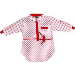 Áo sơ mi đính dây đeo màu đỏ AB029