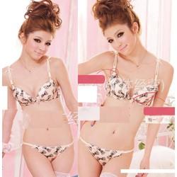 Bộ quần áo lót họa tiết nơ xinh xắn-BL021