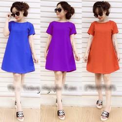 Đầm suông 2 túi đơn giản