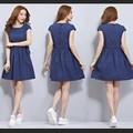 Đầm xòe denim chấm bi Sakura - 0635