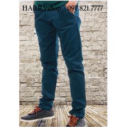 Quần kaki nam màu xanh Hàn Quốc vải rất đẹp