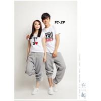 Áo thun đôi nam nữ TC-29  1 cặp size S, M 2 áo