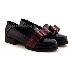 Giày oxford Da Bóng Nơ Đỏ Đô năng động,hàng nhập