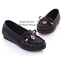 Giày mọi nữ Logo H da mềm năng động tiện lợi, hàng nhập