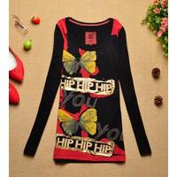 áo thun tay dài con bướm hip Mã: AX2265