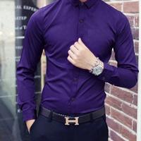 Aó sơ mi nam màu tím dành cho phái mạnh sang trọng