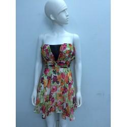 Đầm voan hoa cúp ngực hai dây DX14