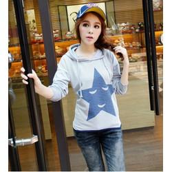 áo thun hoodie hình ngôi sao Mã: AX2079 - XÁM