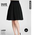 Chân váy xòe dài cao cấp màu đen