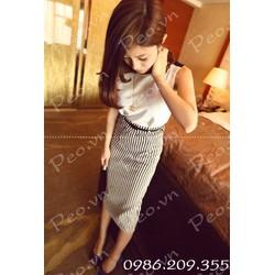 Mã số 580149 - Chân váy  kẻ cá tính