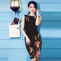 Đầm Họa Tiết In Hoa DL218