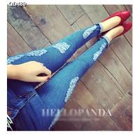 Quần jeans skinny rách cá tính Mã: QD489