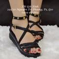 Giày sandal đế bánh mì đan dây-GX160