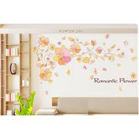 Decal dán tường Sắc hoa lãng mạng