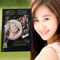 Combo 4 gói Thuốc nhuộm tóc dạng dầu gội màu hạt dẻ Dexe